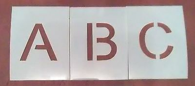 6 inch Arial Alphabet Stencil - Letters - Parking lot - Arts and Craft - Paint