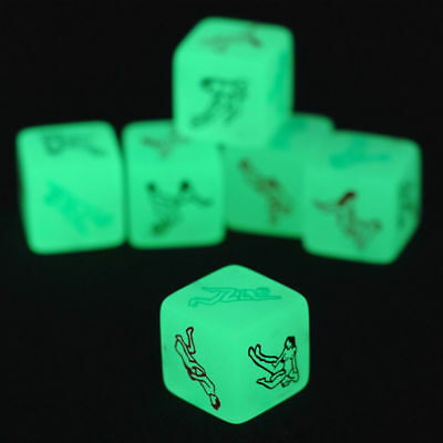 Kama Sutra Glow in The Dark Love Sex Dice Erotic Saucy Fun Adult Crap Game Toys