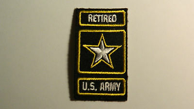 US Army Retired Patch Iron on for a Hat