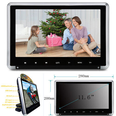 "11.6"" Car Headrest Monitor HD 1080P Auto DVD Player Touch Button+HDMI/FM/IR/Game"