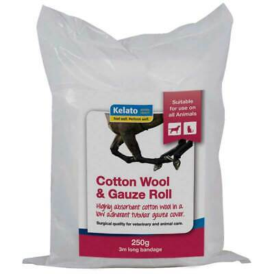 Kelato Highly Absorbent Cotton Wool & Gauze Roll For Horses Equine 15cm x 3mt