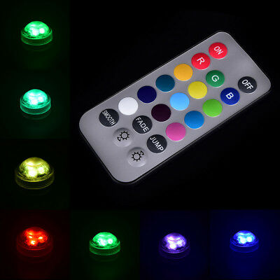 Waterproof LED Multicolor Submersible Light Wedding Party Vase Remote Control UK
