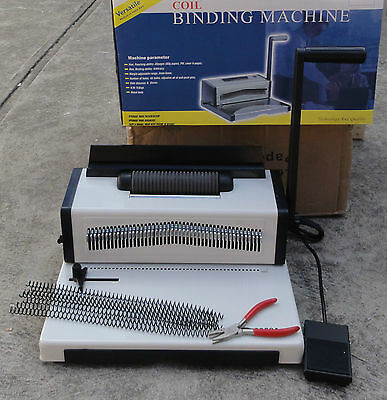 Electric Inserting Manual Punching Spiral Binding Machine 4:1 Pitch 46 Holes