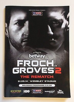 Carl Froch vs George Groves 2 Boxing Programme Anthony Joshua + James DeGale