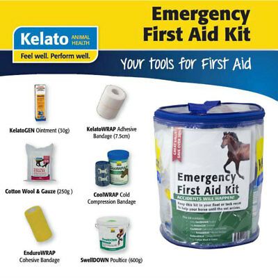 Kelato Emergency & First Aid Speciality Kit for Common Horse Equine Injuries