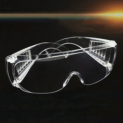 Transparent Safety Vented Goggles Eye Protective Protection Lab Anti Fog Glass
