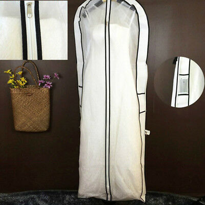 160*59*10cm 1X Wedding Dress Bridal Gown Garment Anti-Dust Storage Cover Bag PHS