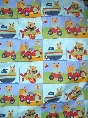 Teddy and Friends cot/pram  quilt