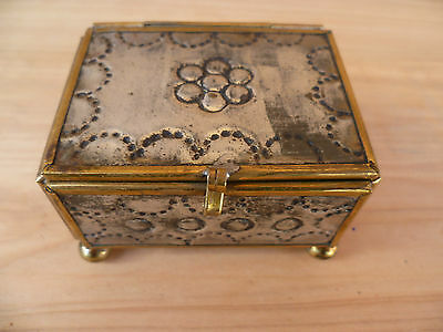 Vintage Old Small Size Trinket, Jewellery Box, (A34)