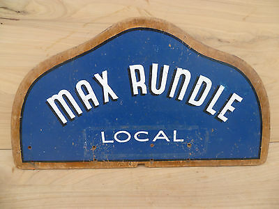 Vintage Old Max Rundle Shaving, Hair Cut Timber Advertising Sign
