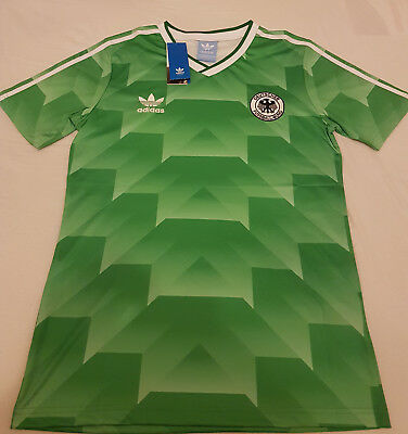 1990 West Germany away retro classic football shirt Jersey