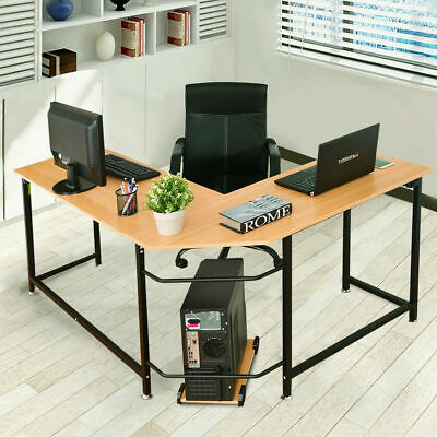 L Shaped Corner Computer Desk PC Latop Study Table Workstation Home Office  New