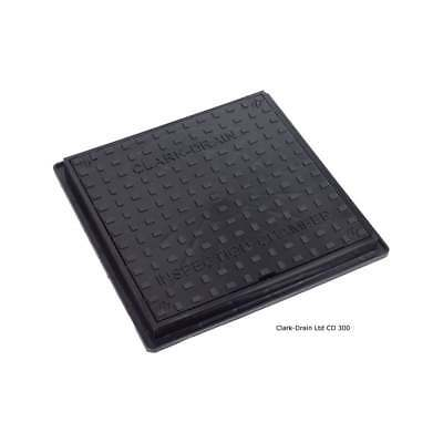 Clark Drain Square Chamber Cover For 320mm Chamber Base or Risers CD300