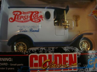 Pepsi Cola Limited Edition/Collectible Die Cast Truck Bank w/Key 1996 New in Box