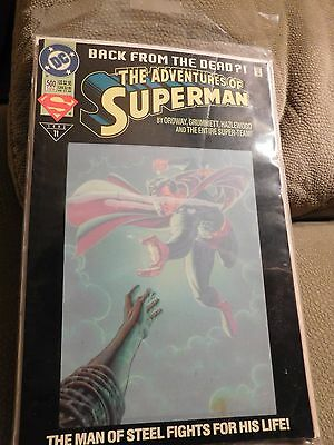 DC Comics The Adventures of Superman Back from the Dead No 500 June 1993 Comic