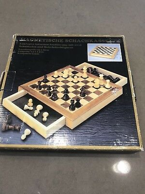 """Dal Rossi Italy Chess set with drawers, walnut, 10"""" 1/2 Price Damaged"""
