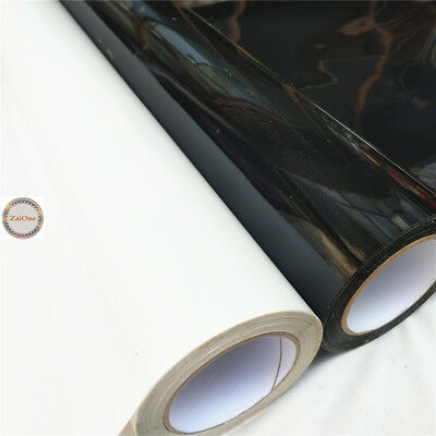 A4/Meter Heat Transfer Vinyl Film PU Iron onT-shirt Garment Textile Black/White