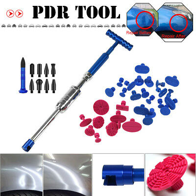 PDR Tools Slide Hammer 25X Glue Tabs Tap Down Paintless Dent Repair Removal Kit