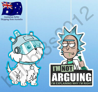 Rick and Morty Rick Sanchez Not arguing Snuffles Air Fresheners air freshener