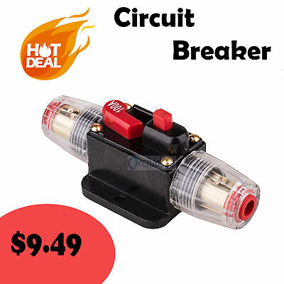 DC 12Volt Car Stereo Audio Circuit Breaker Inline Fuse 100AMP 100A
