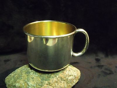 High Quality Heavy Gorham Sterling Gold Wash Baby Cup, Inscribed 'donny' 57.5 Gr