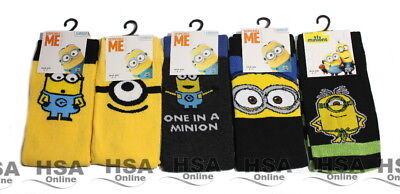 NEW! Mens 2,3,5 Pairs Minions Despicable Me Socks UK 6-11,Novelty Birthday Gift