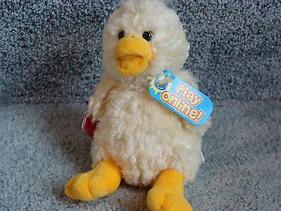 NEW Ty Beanie Babies 2.0 QUACKLY the DUCK Retired MINT unused code 6+