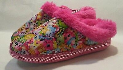 ~NEW w//tags 11-12 SHOPKINS Slippers~Furry Character Mules~Girl/'s Size SMALL