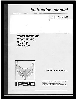 Ipso  Commercial  Washers  Programming  Manual  For  Pc30