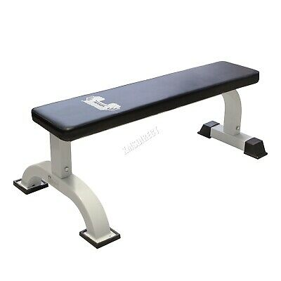 Flat Fitness Bench – Indoor Weight lifting Dumbbell Press Abs Home Gym Workout
