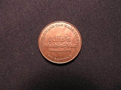 Alto's Wash-N-Vac Car Wash Token - Sherwood, OR Car Wash Coin - OR Carwash Token