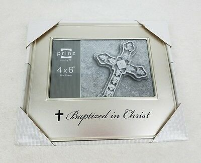 4 X 6 Baptism Photo Picture Frame - NEW IN BOX - Silver - Baptized in Christ