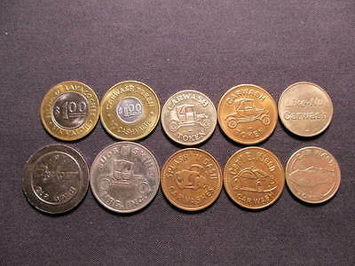 10 Car Wash Tokens Lot -(10) Car Wash Coins Included In This Lot -Carwash Tokens