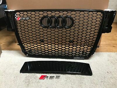 Audi A5 S5 B8 To Rs5 Styled 2007 - 2012 Front Honeycomb Grille Black Stealth