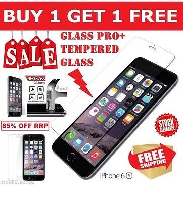 """100% Genuine Tempered Glass Screen Protector Protection For Apple Iphone 6S 4.7"""""""