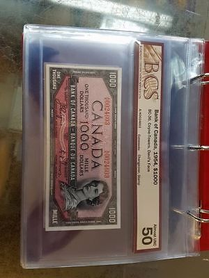 1954 $1000 Dollar Bank of Canada note Devil's face wow
