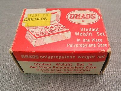 Ohaus Student Metric Weight Set With Fractional & Gram Weights, Case, Forceps