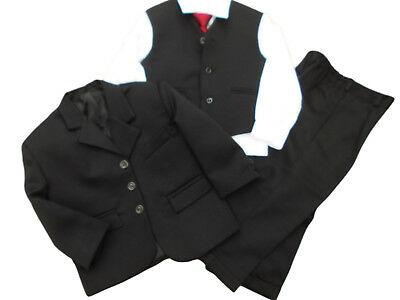 BNWT boys 5 piece black smart formal suit wedding party page boy prom age 2 YRS