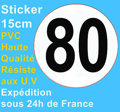 Sticker speed restriction limited to 80 km/h vinyl Truck Car Bus Van Vehicle HQ