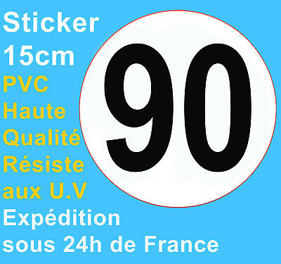 Sticker speed restriction limited to 90 km/h vinyl Truck Car Bus Van Vehicle HQ