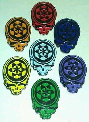 Grateful Dead Chakra Hat Pin Rare Jerry Garcia Phil Lesh Bob Wier Terrapin NEW