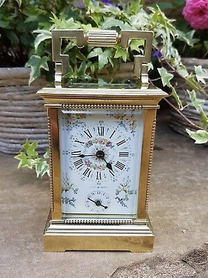 A superb quality carriage alarm clock circa 1870 - Pristine beautiful timepiece