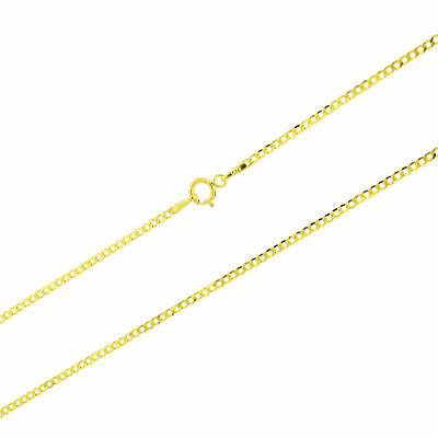 "14k Yellow Gold Solid 1.5mm Womens Curb Cuban Pendant Chain Necklace 16""- 24"""