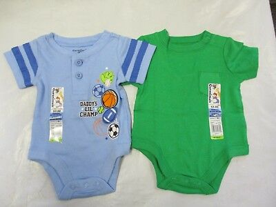 e9701a0ec0b8 NWT GARANIMALS NEWBORN Bodysuit Creeper 2-Pack Baby Boy Sports ...