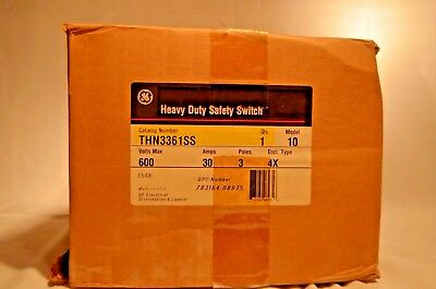 GE Stainless THN3361SS 30a 600v Safety Switch Non-Fused