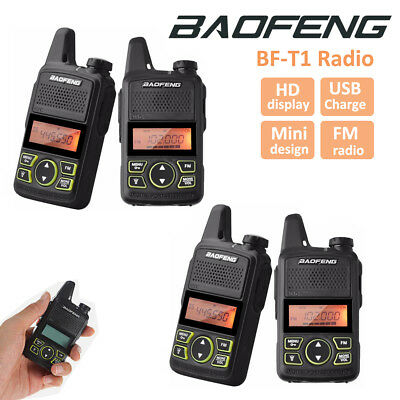 4x Baofeng BF-T1 Walkie Talkie Long Range Two Way Radio UHF400-470MHZ Interphone