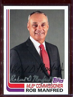 Rob Manfred MLB Commissioner Topps Archives Signed Card Authentic Autograph Auto