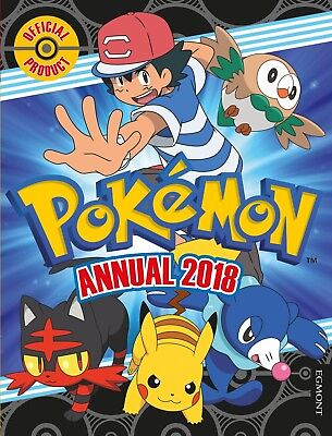 The Official Pokemon Annual 2018 Egmont Yearbook Brand New Hardcover Book Kids