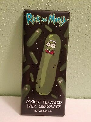 Pickle Rick Dark Chocolate Bar! FYE EXCLUSIVE! SHIPS SAME DAY!