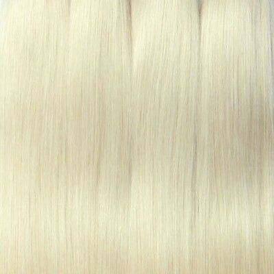 """Synthetic Hair for Restoring Dolls - Platinum Blonde Color #613 - Long 23"""" Tail"""